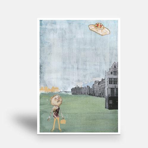 postcard 'M. Humprey's strange encounter'