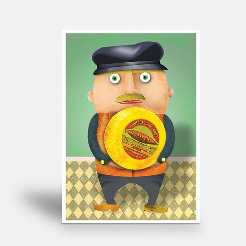 postcard 'M. Van Oranje'