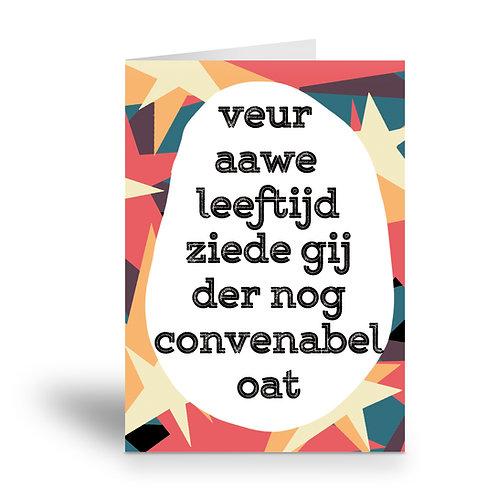 greeting card 'veur awe leeftijd'