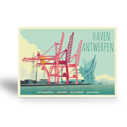 postcard 'Antwerp vintage - haven'