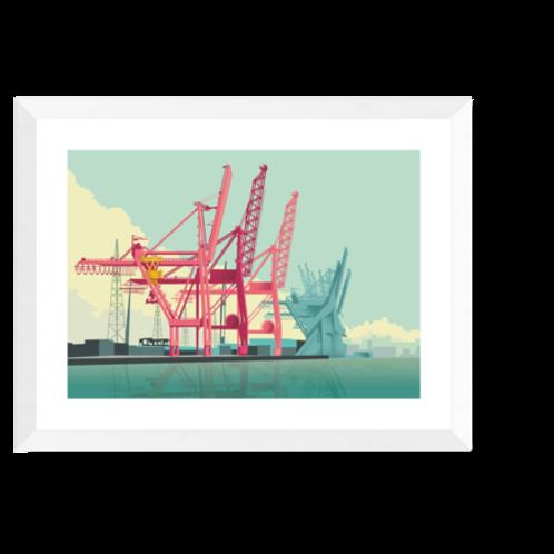 Artprint 'Haven Antwerpen'