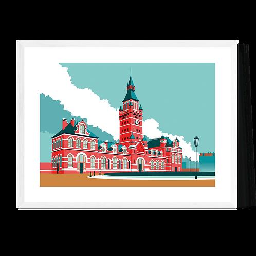 Artprint 'Antwerpen - Zuidstation'