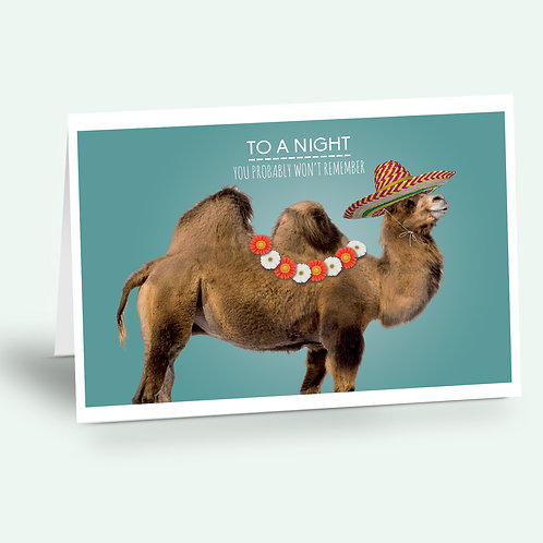greeting card 'camel'