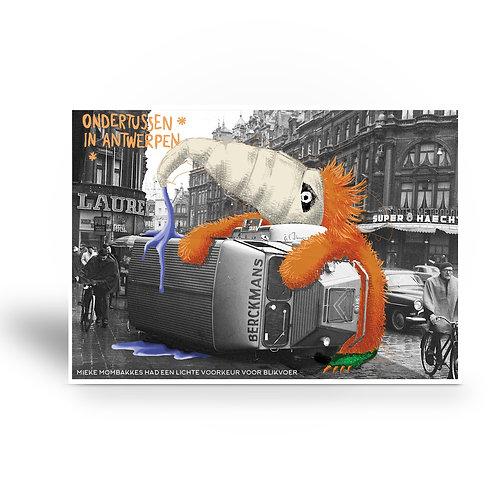 postcard 'Ondertussen in Antwerpen - Mieke Mombakkes'