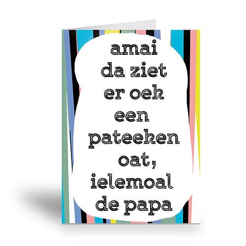 greeting card 'een pateeken - papa'
