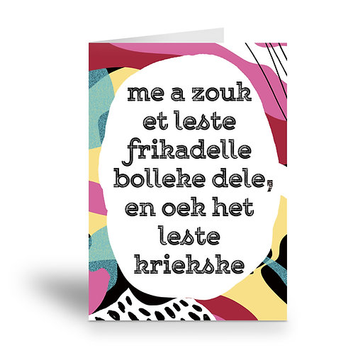 greeting card 'frikadellebolleke'