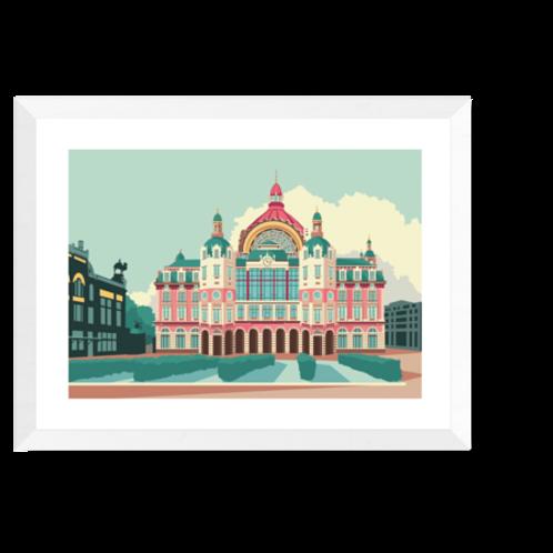Artprint 'Centraal Station Antwerpen'