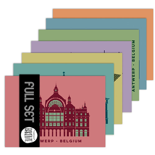 11 postcards 'Antwerp shapes'