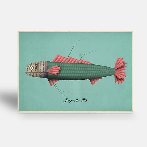 postcard 'Jacques the Fish'
