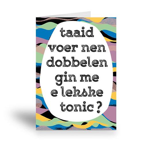 greeting card 'gin tonic'