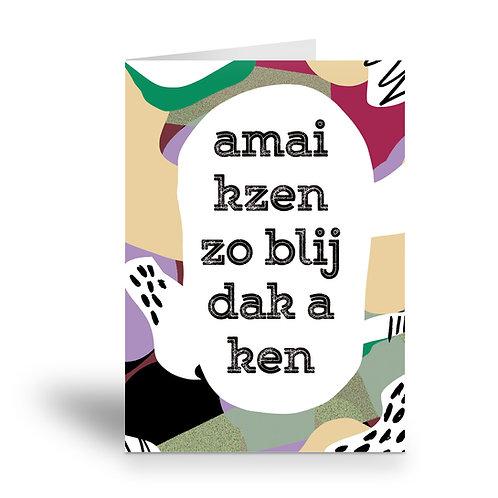 greeting card 'blij dak a ken'