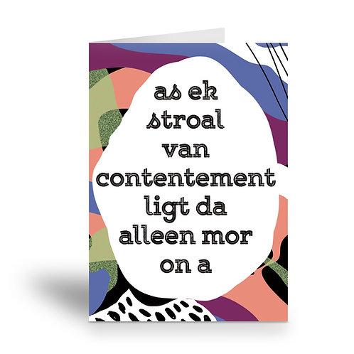 greeting card 'stroal van contentement'