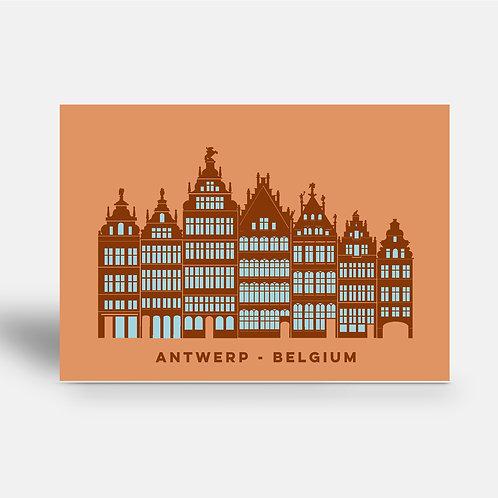 postcard 'Antwerp shapes - Grote Markt'