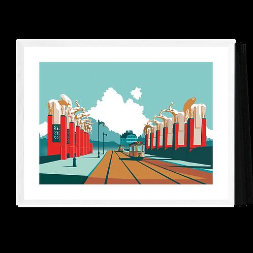 Artprint 'Antwerpen - Olifantenbrug'