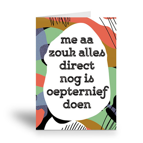 greeting card 'oepternief doen'