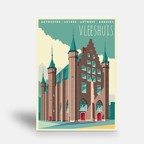postcard 'Antwerp vintage - Vleeshuis'