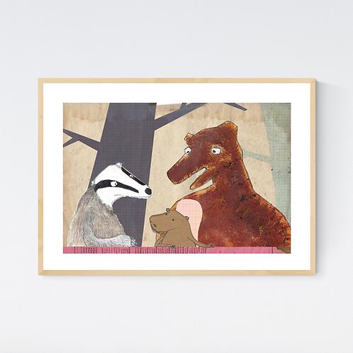 Artprint 'Animalschool 1'