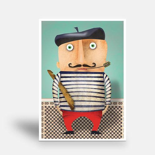 postcard 'M. Poireau'