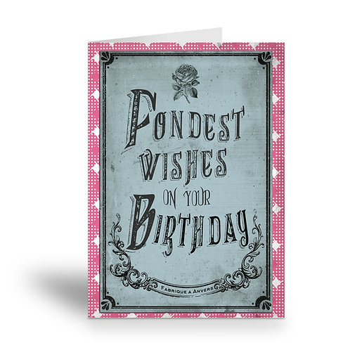 greeting card 'vintage birthday' 1
