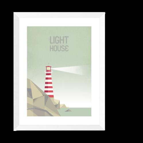 Artprint 'Lighthouse - day'