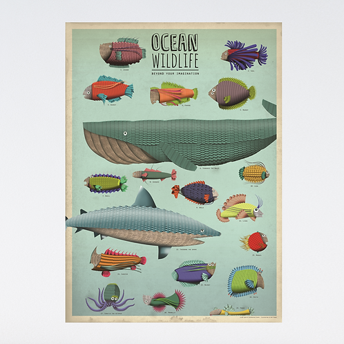 XL poster 'Ocean Wildlife'