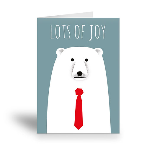 greeting card 'lots of joy' polar bear