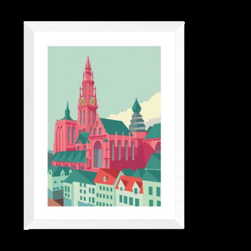 Artprint 'Kathedraal Antwerpen'