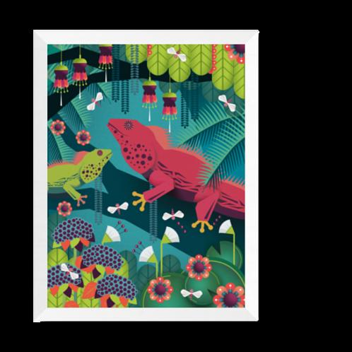 Artprint 'Iguanas'