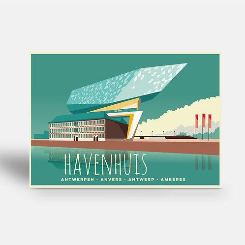 postcard 'Antwerp vintage - Havenhuis'