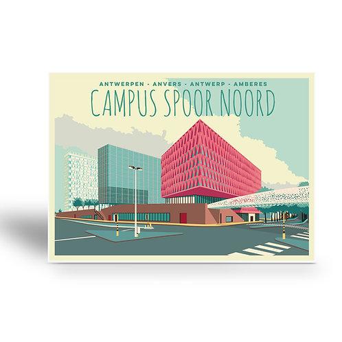 postcard 'Antwerp vintage - campus spoor noord'