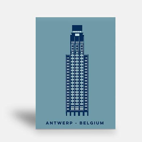 postcard 'Antwerp shapes - Boerentoren'