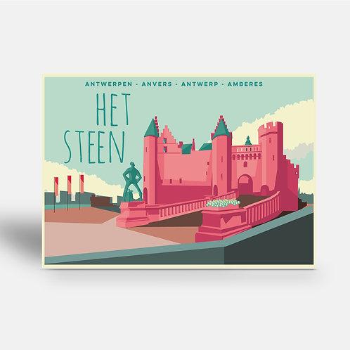 postcard 'Antwerp vintage - Het Steen'