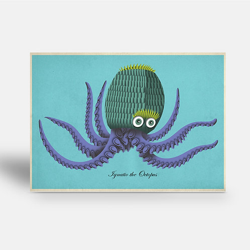postcard 'Ignatio the Octopus'
