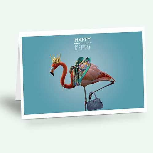 greeting card 'flamingo'
