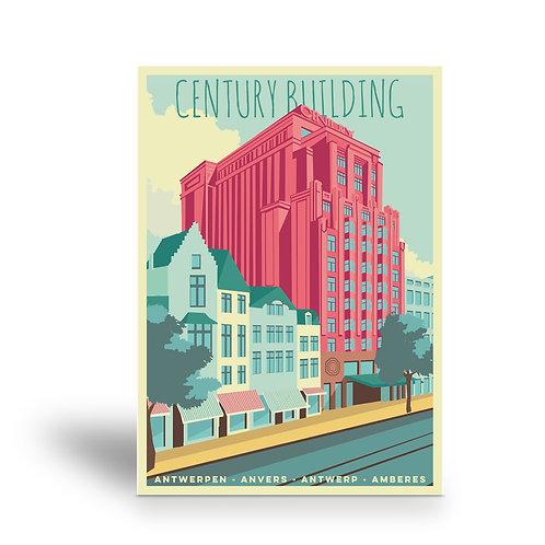 postcard 'Antwerp vintage - Century building'