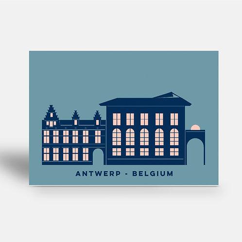 postcard 'Antwerp shapes - Rubenshuis'