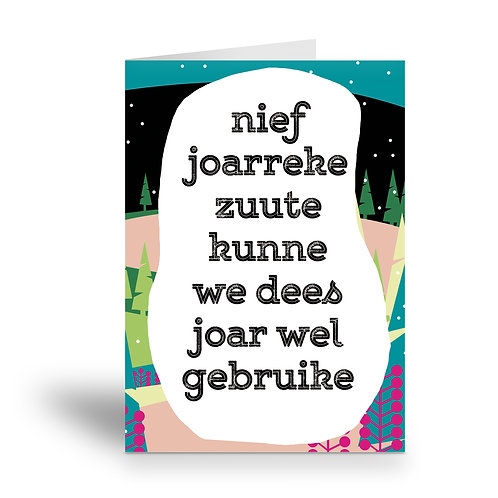greeting card 'nief joarreke zuute'