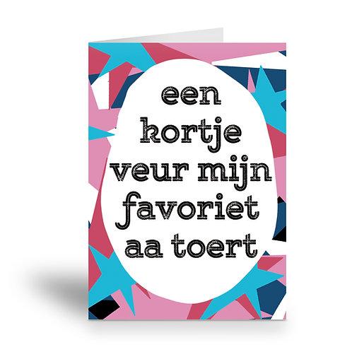 greeting card 'mijn favoriet aa toert'