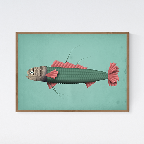 Artprint 'Jacques the Fish'
