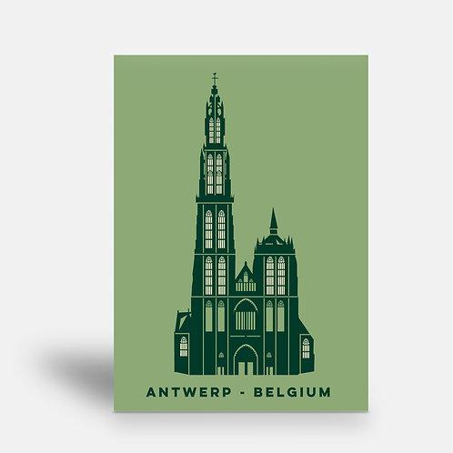 postcard 'Antwerp shapes - OLV Kathedraal'