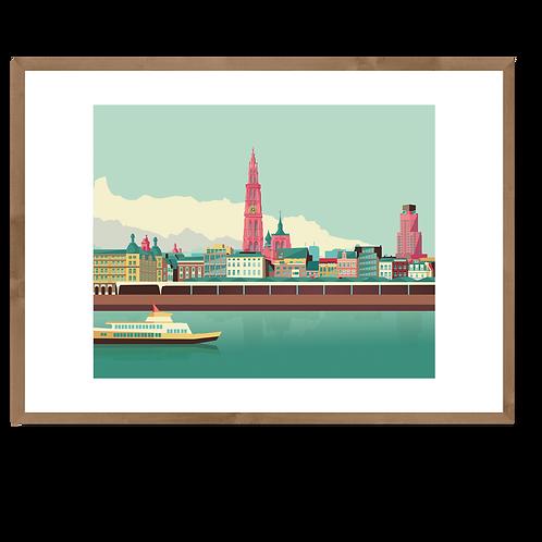 Artprint L 'Antwerpen Skyline'