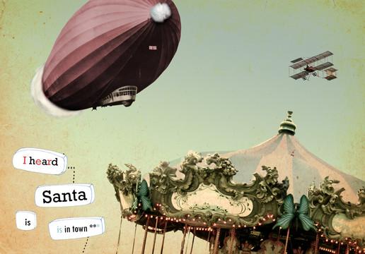kerstmis - collage - I heard santa is in