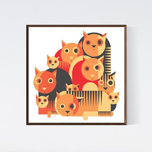 Artprint 'Colombian cats 2'