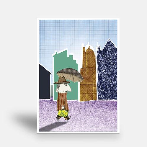 postcard 'M. Jenkins walking'