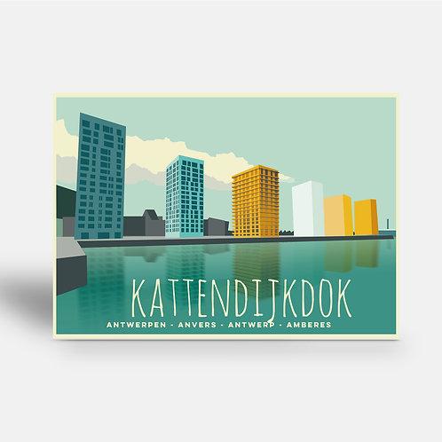 postcard 'Antwerp vintage - Kattendijkdok'