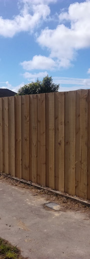 New Double Overlap Front Fence