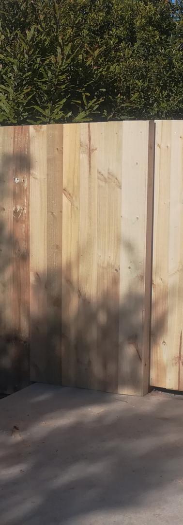 1.8m Single Overlap Sloped Fence with Gate