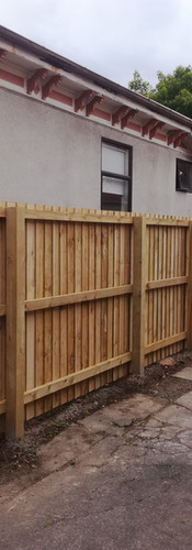 Replacement 1.8m High Single Overlap Boundary Fence