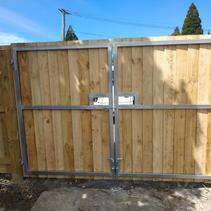 Steel Frame Driveway Gate