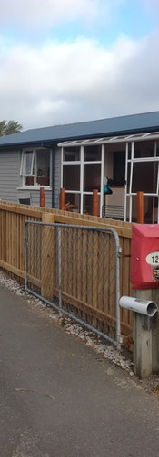 Stepdown Transition between 1.8m High and 1.2m High Boundary Fence